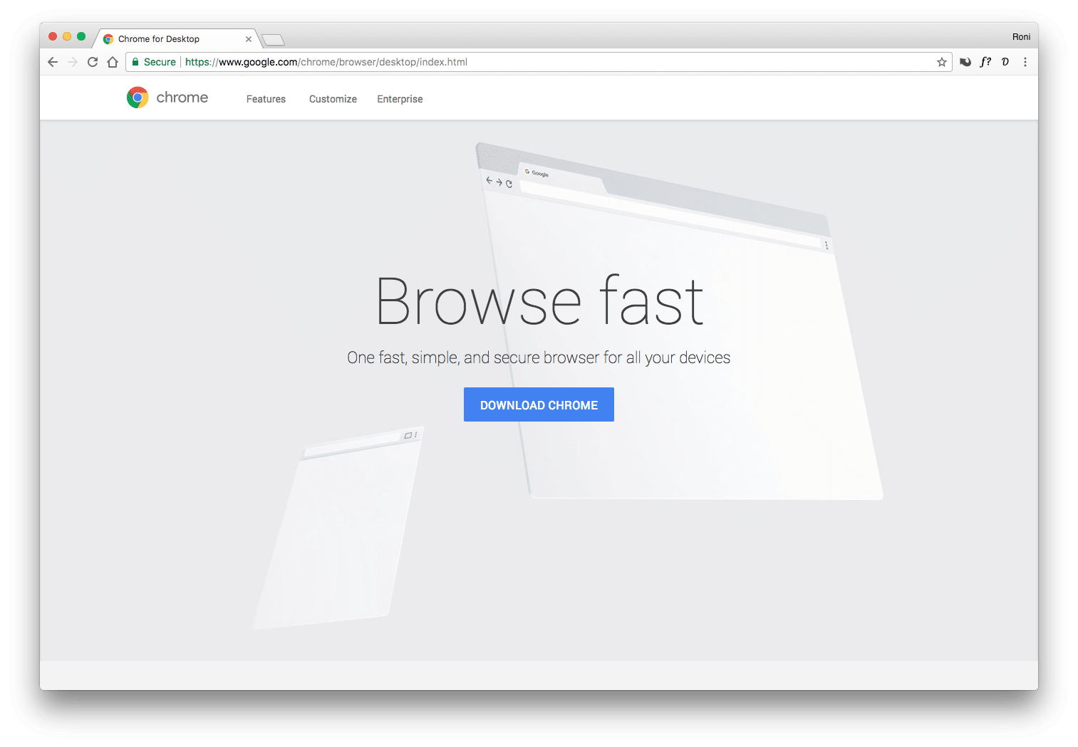 Photo of Google Chrome web browser