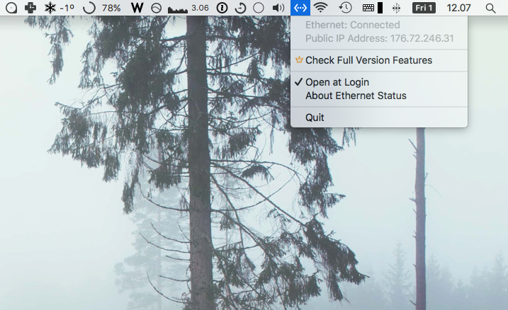Show Ethernet status in the macOS menubar - Geeky Lifestyle
